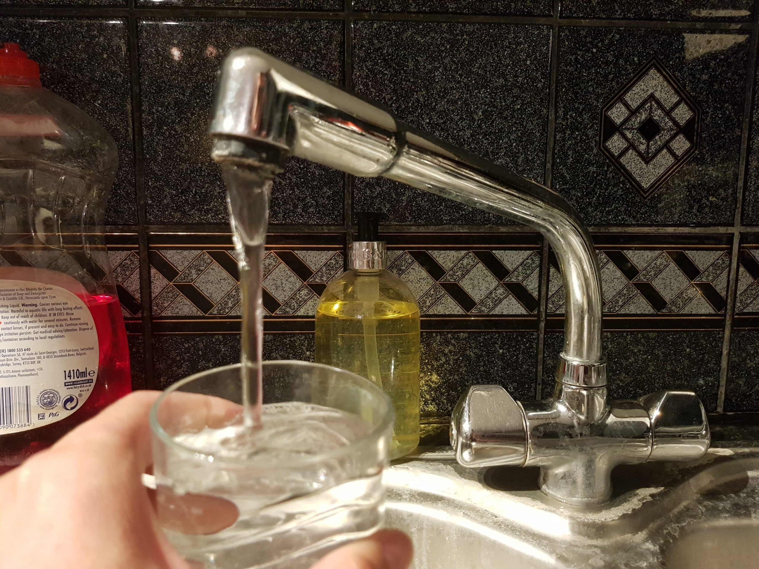 Water falling form the tap
